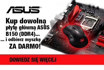 Kup płytę Asus B150 - zgarnij myszkę gratis !