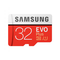 Samsung 32GB EVO Plus MicroSDHC odczyt 95MB/s zapis 20MB/s + adapter - Nowy model